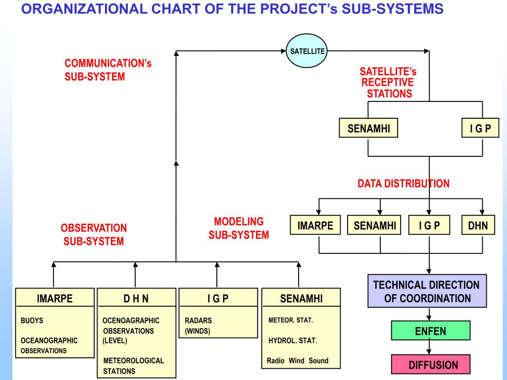 ORGANIZATIONAL CHART OF THE PROJECT's SUB-SYSTEMS