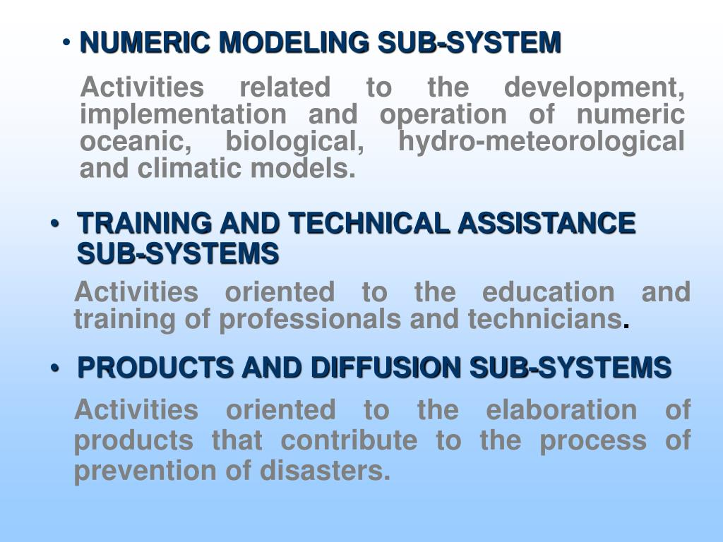 NUMERIC MODELING SUB-SYSTEM