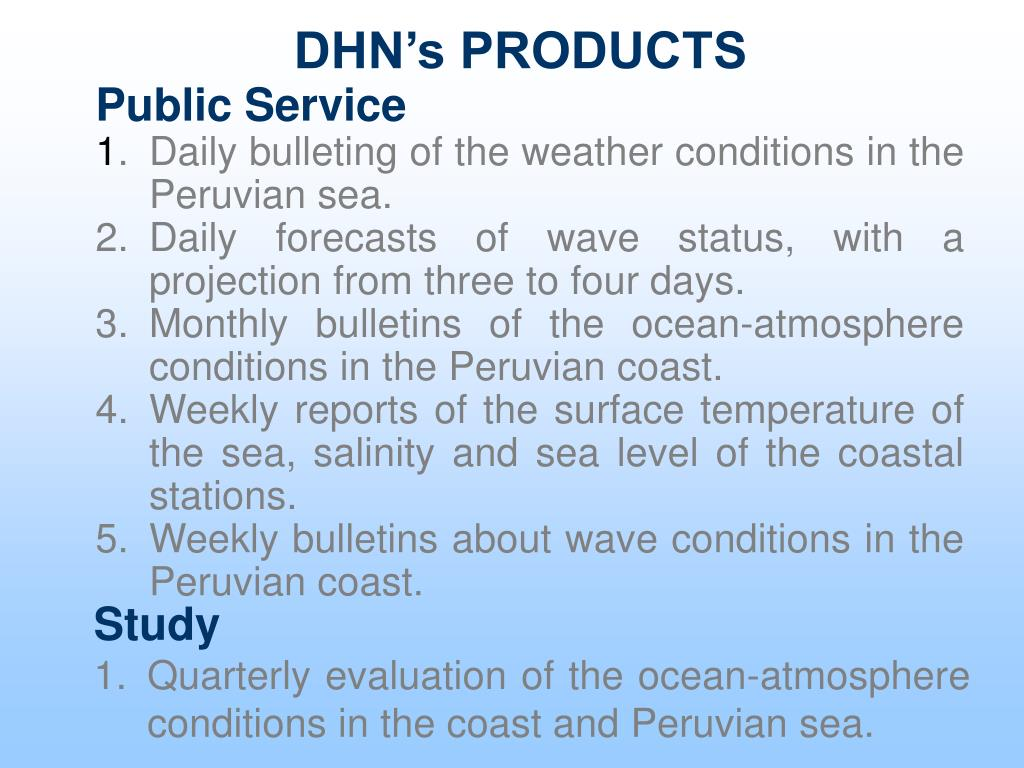 DHN's PRODUCTS