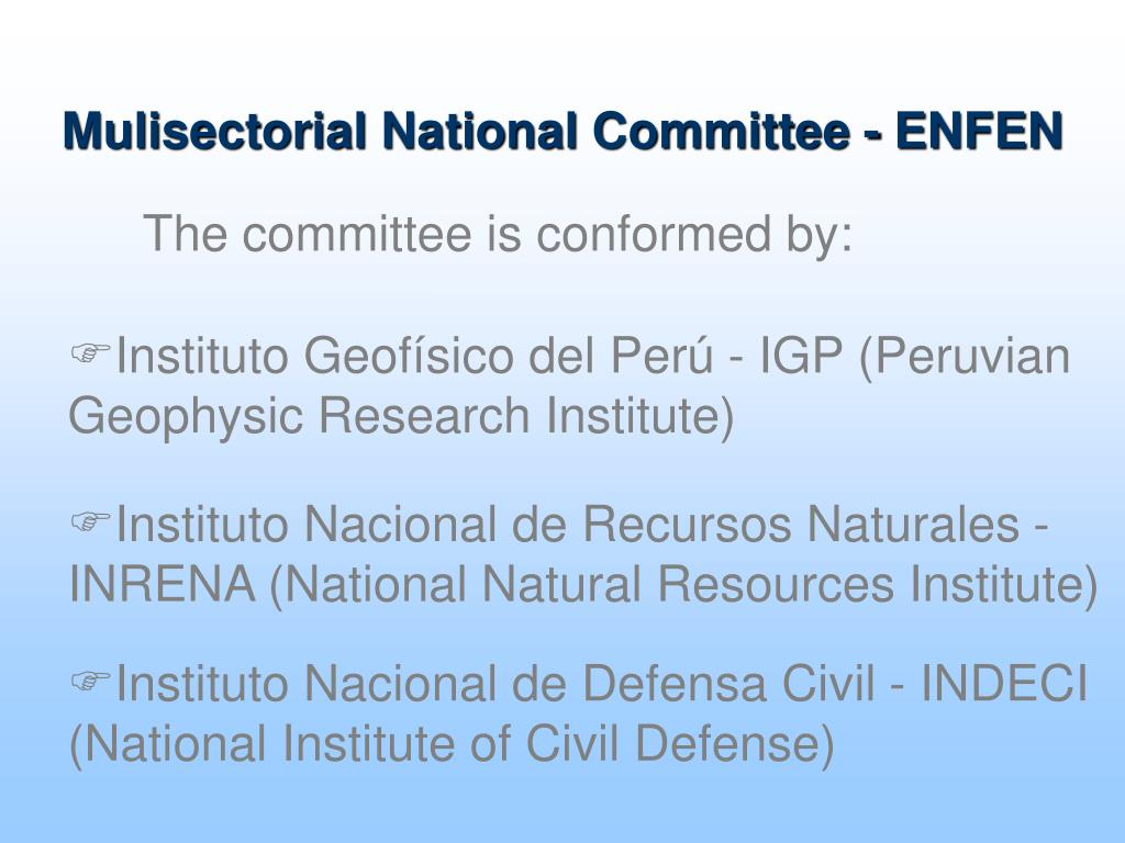 Mulisectorial National Committee - ENFEN