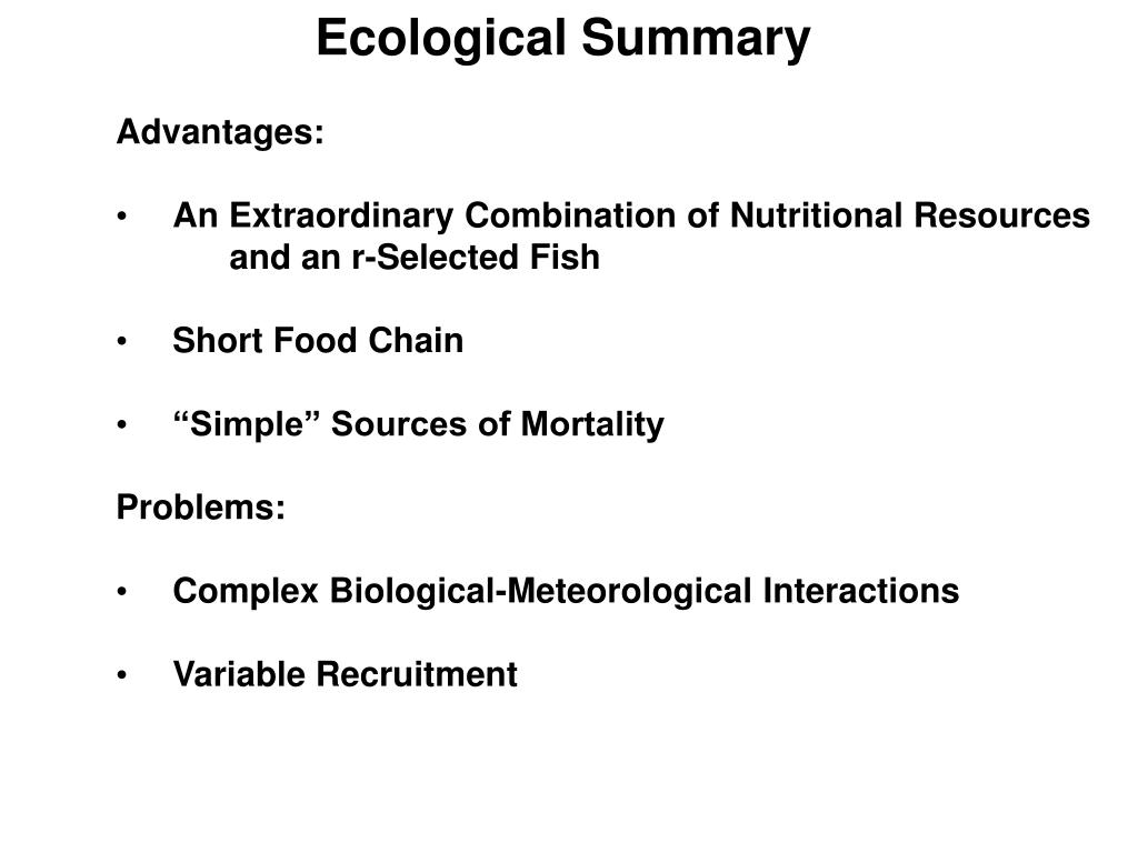Ecological Summary