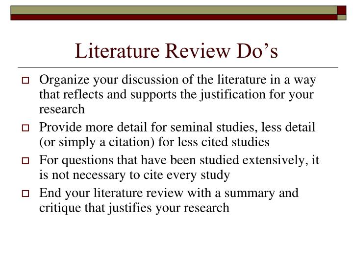 Do my literature review