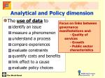 analytical and policy dimension