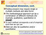 conceptual dimension cont