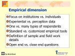 empirical dimension