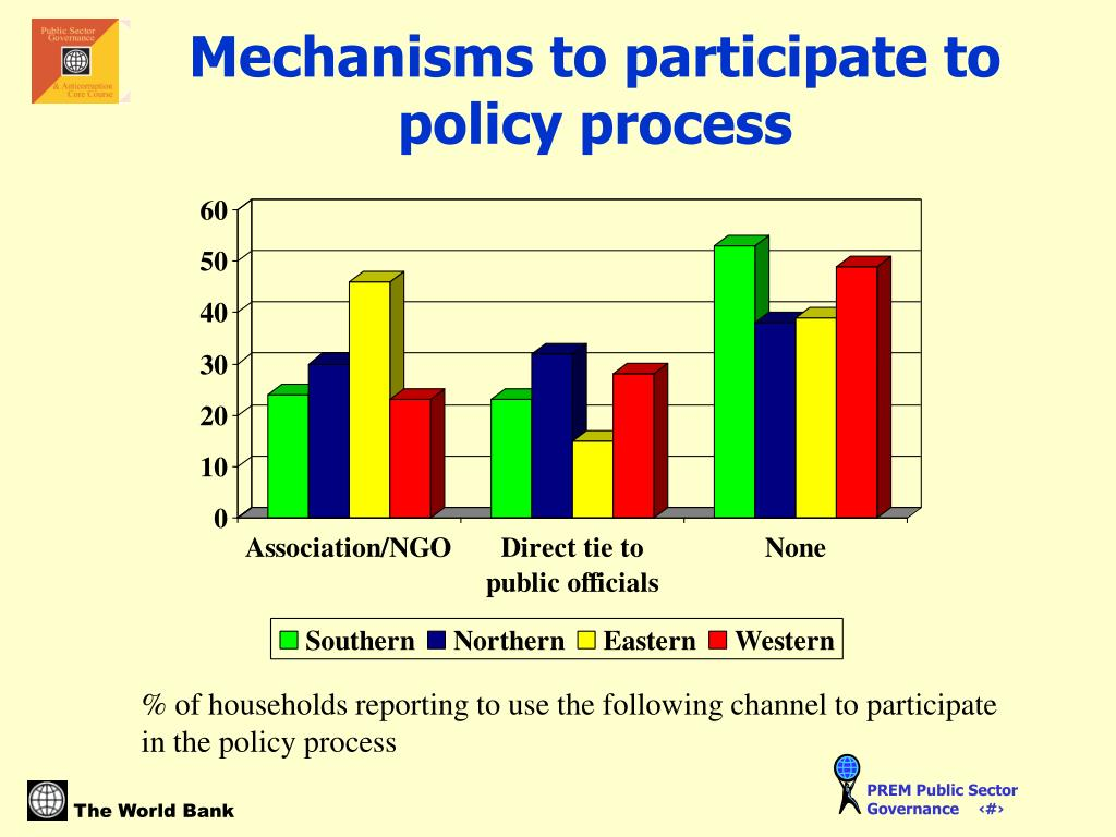 Mechanisms to participate to policy process