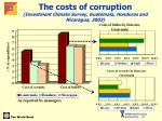 the costs of corruption investment climate survey guatemala honduras and nicaragua 2003