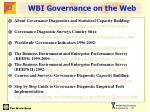 wbi governance on the web
