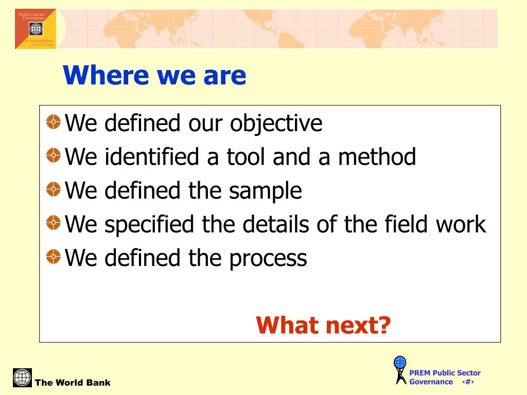 We defined our objective