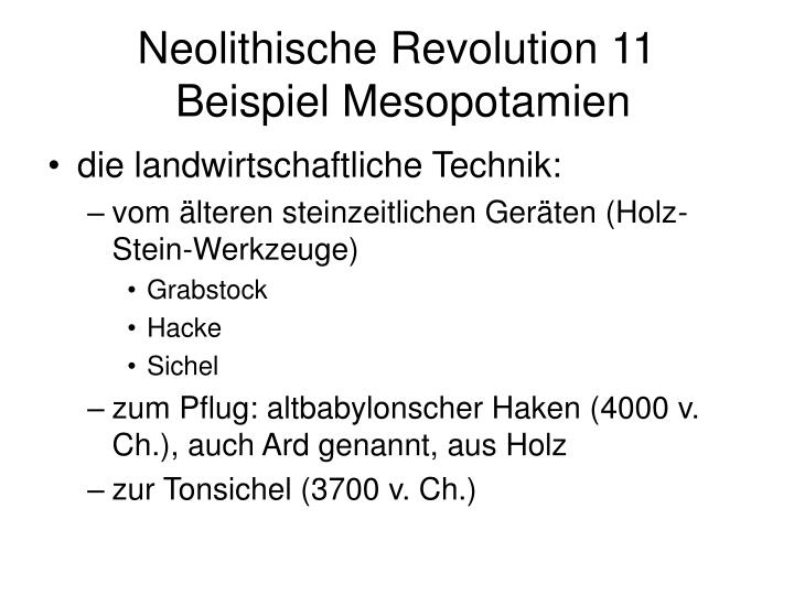 Neolithische Revolution 11