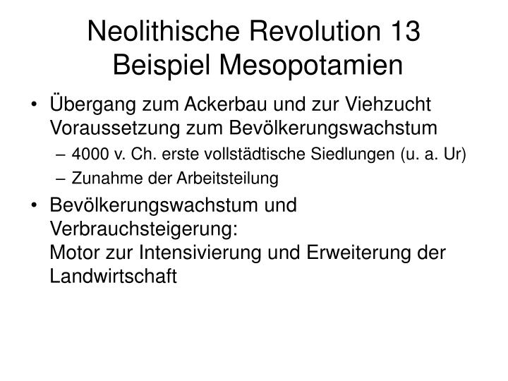 Neolithische Revolution 13
