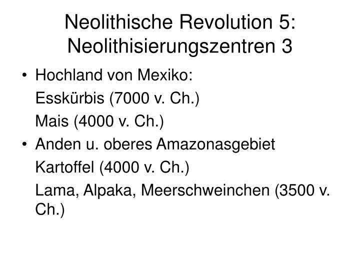 Neolithische Revolution 5: Neolithisierungszentren 3