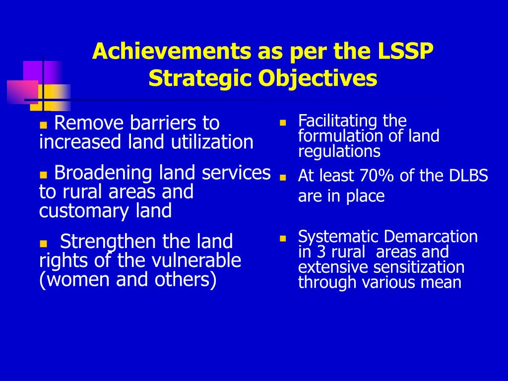 Remove barriers to increased land utilization