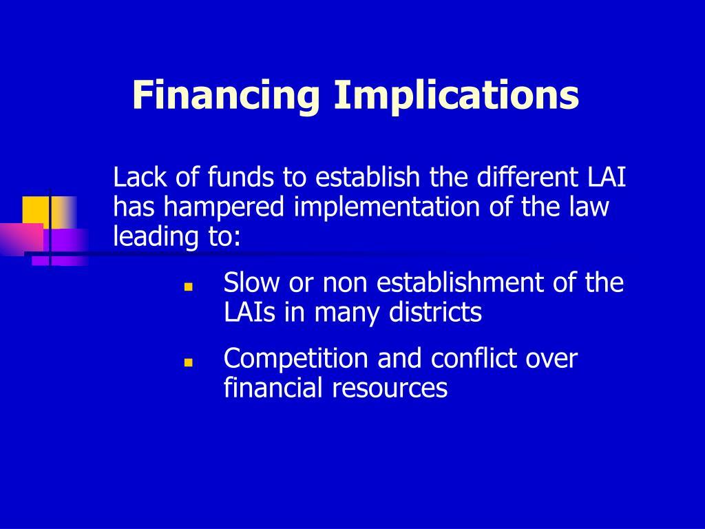 Financing Implications