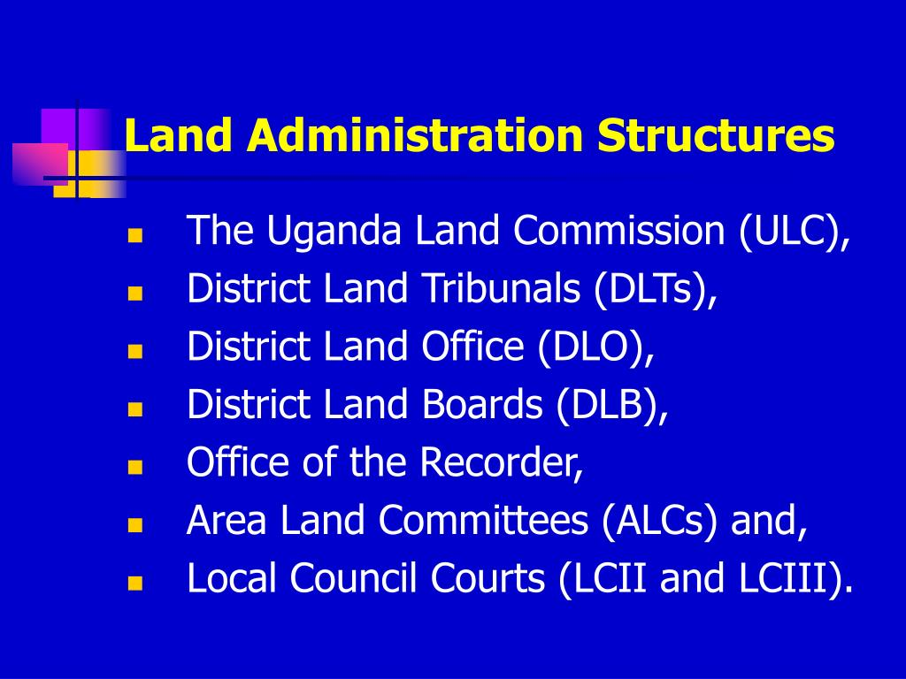 Land Administration Structures