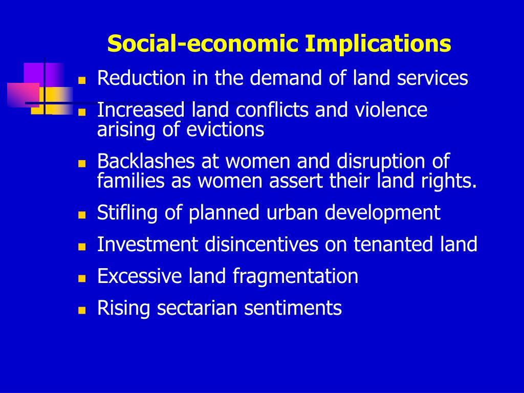 Social-economic Implications