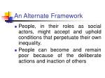 an alternate framework12