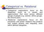 categorical vs relational