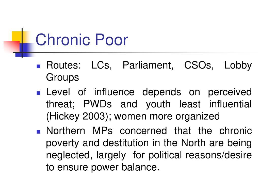 Chronic Poor