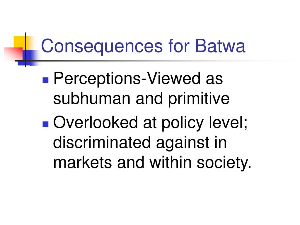 Consequences for Batwa