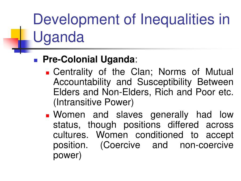 Development of Inequalities in Uganda