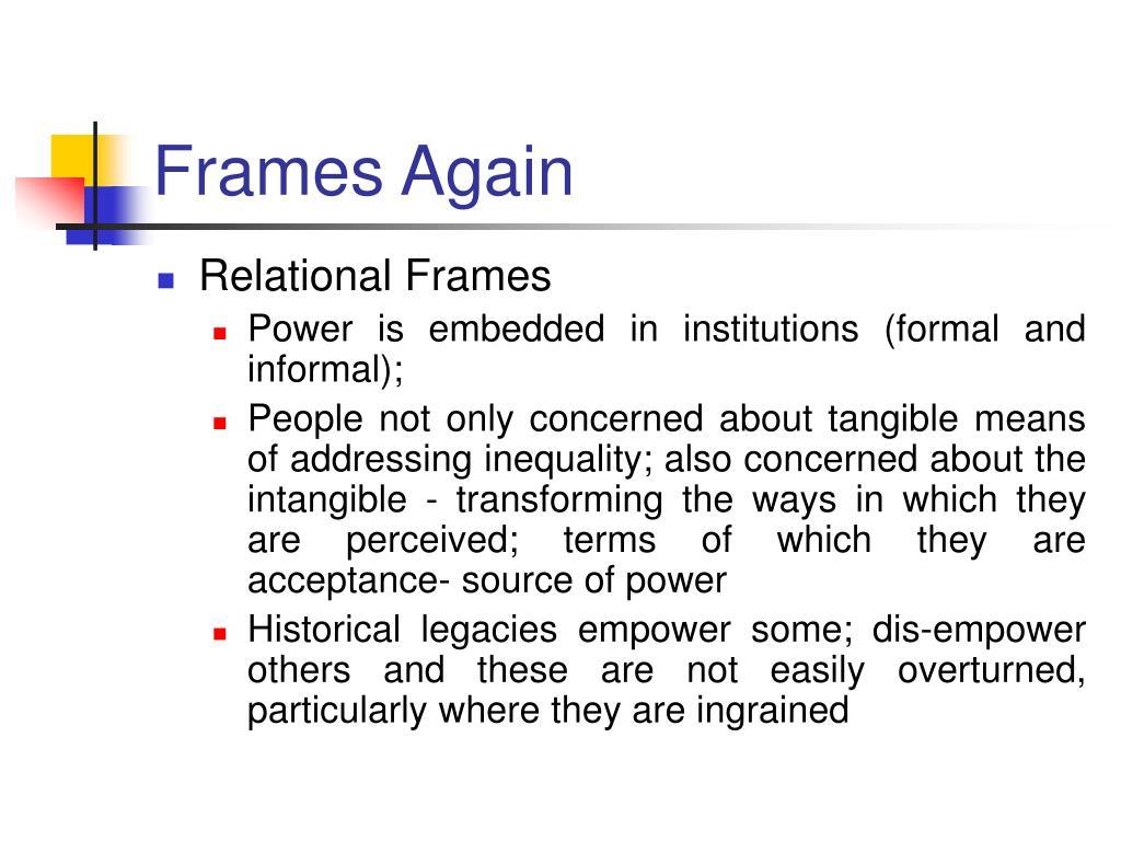 Frames Again