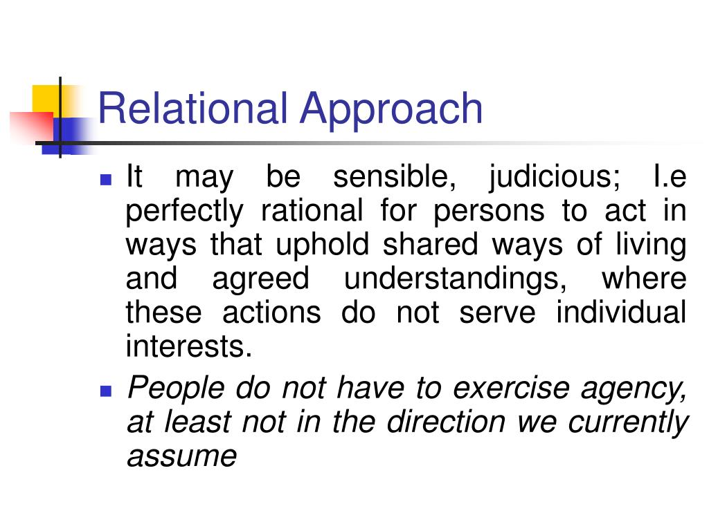 Relational Approach