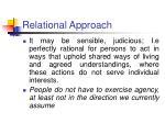 relational approach