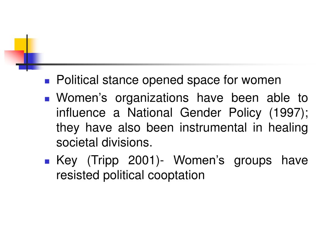 Political stance opened space for women