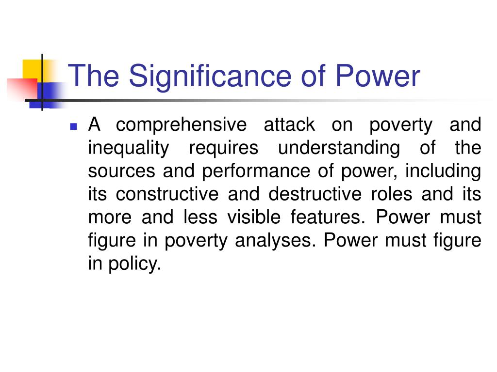 The Significance of Power