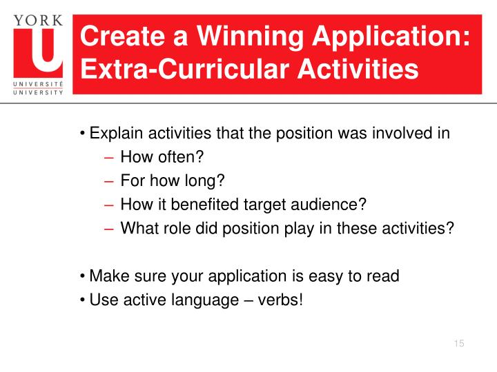 Create a Winning Application: