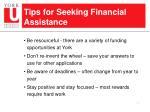 tips for seeking financial assistance