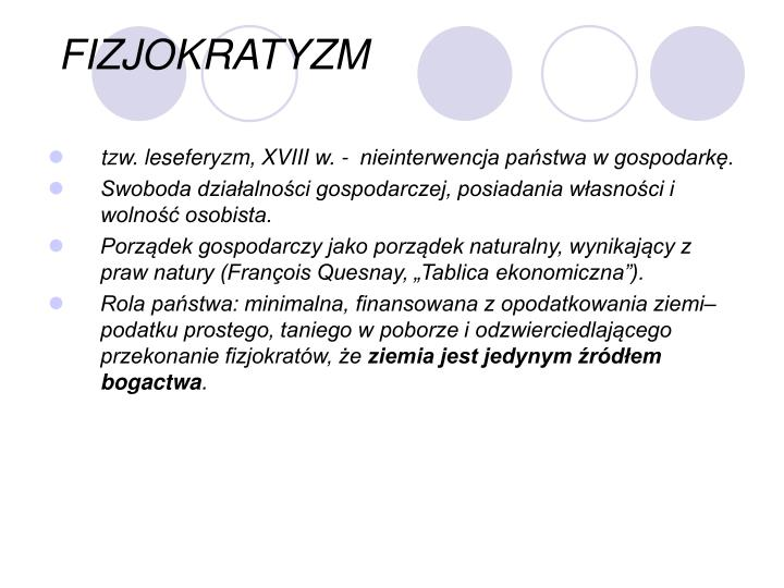 FIZJOKRATYZM