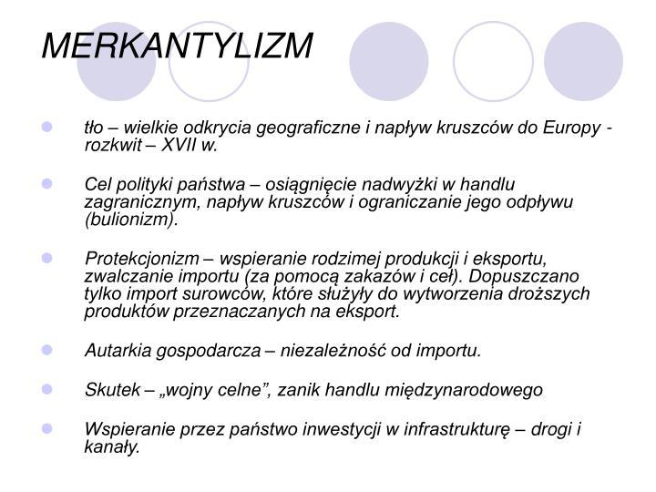 MERKANTYLIZM