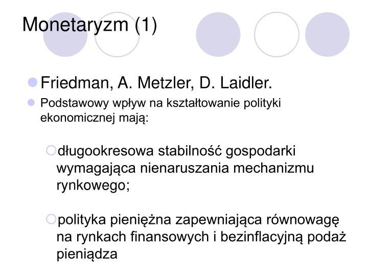 Monetaryzm (1)
