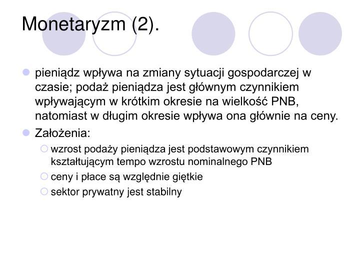 Monetaryzm (2).