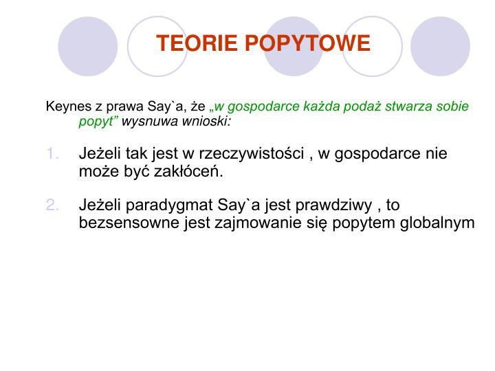 TEORIE POPYTOWE