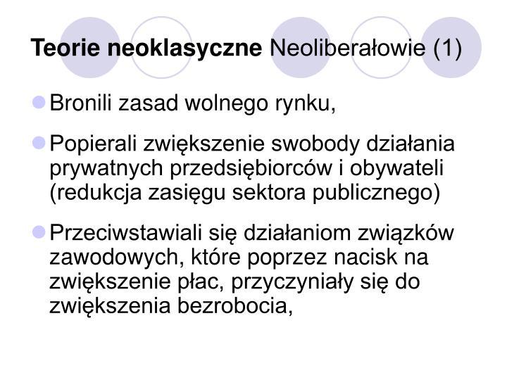 Teorie neoklasyczne