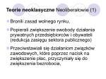 teorie neoklasyczne neolibera owie 1