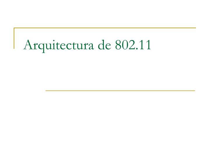 Arquitectura de 802.11