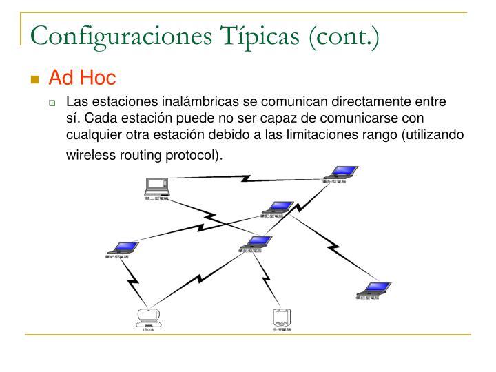 Configuraciones Típicas