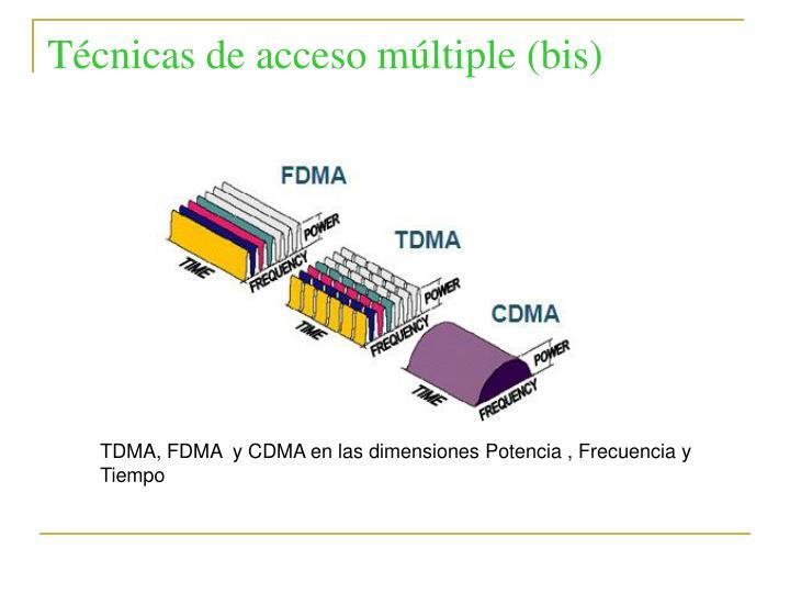 Técnicas de acceso múltiple (bis)