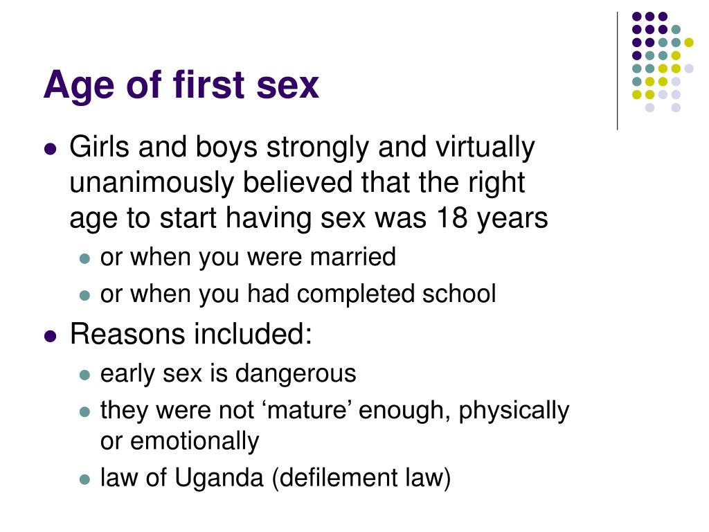 Age of first sex