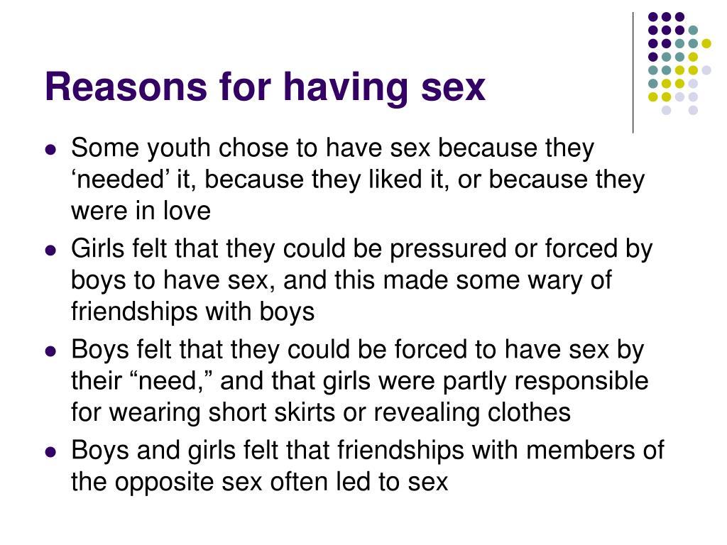 Reasons for having sex