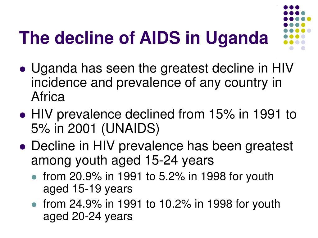 The decline of AIDS in Uganda