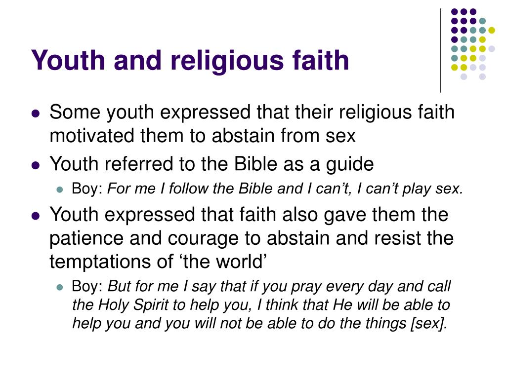Youth and religious faith