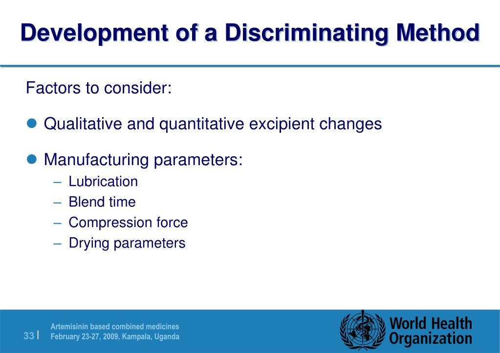 Development of a Discriminating Method