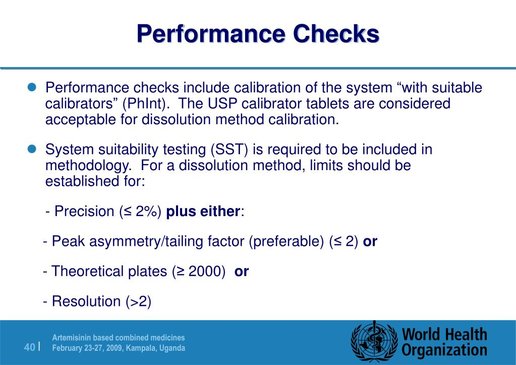 Performance Checks