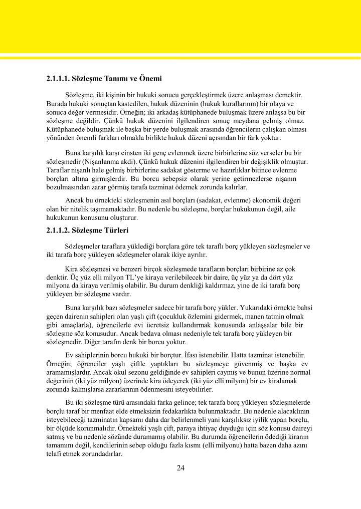 2.1.1.1. Sözleşme Tanımı ve Önemi