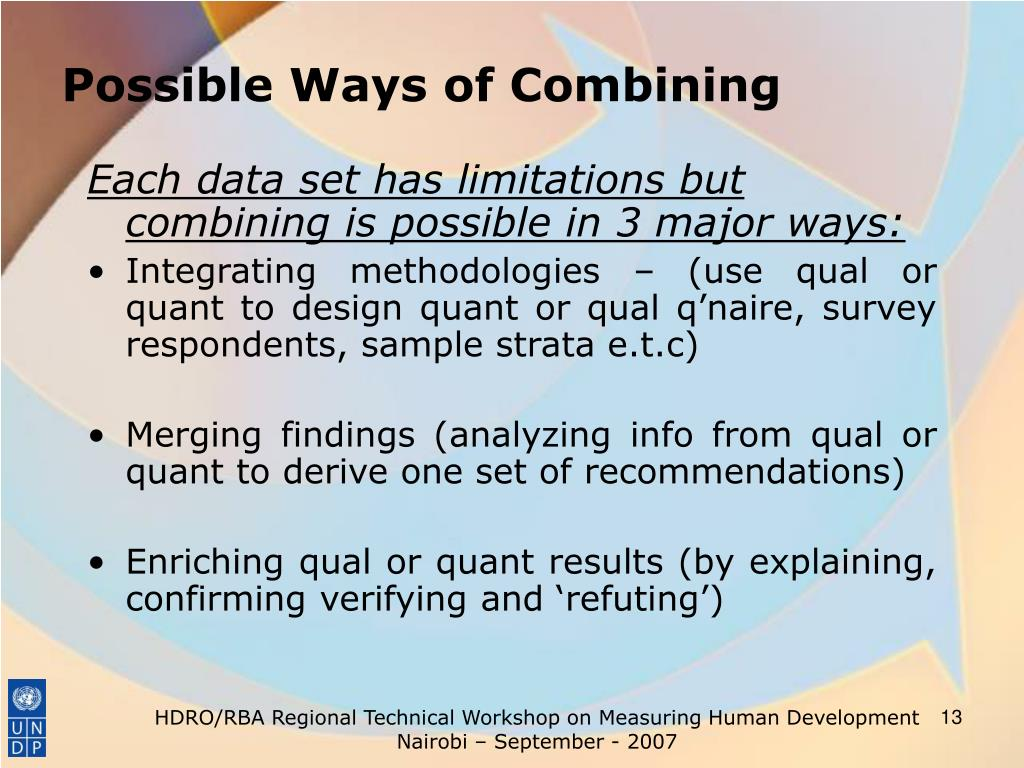 Possible Ways of Combining